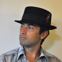 Wool Felt Pork Pie Hat LS2