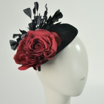 Lace and Rose Pillbox Headband 2
