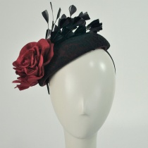 Lace and Rose Pillbox Headband 3