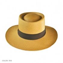 Cuenca Panama Straw Gambler Hat - Tan 2
