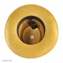 Cuenca Panama Straw Gambler Hat - Tan 6
