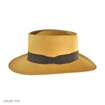 Cuenca Panama Straw Gambler Hat - Tan 3