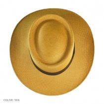 Cuenca Panama Straw Gambler Hat - Tan 4