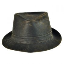 Weathered Cotton Trilby Fedora Hat alternate view 2