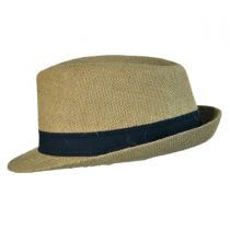 Jute Fabric C-Crown Trilby Fedora Hat alternate view 3