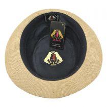 Jute Fabric C-Crown Trilby Fedora Hat alternate view 4