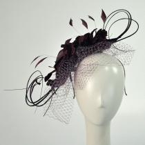 Velvet Flowers and Quills Fascinator Headband W2