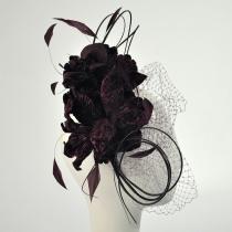 Velvet Flowers and Quills Fascinator Headband W3