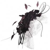 Velvet Flowers and Quills Fascinator Headband W4
