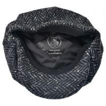 Large Herringbone Donegal Tweed Wool Newsboy Cap alternate view 4