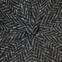 Large Herringbone Donegal Tweed Wool Newsboy Cap alternate view 5