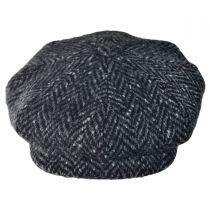 Large Herringbone Donegal Tweed Wool Newsboy Cap alternate view 7