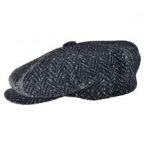 Large Herringbone Donegal Tweed Wool Newsboy Cap alternate view 13