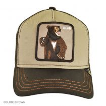 Bear Mesh Trucker Snapback Baseball Cap in