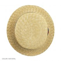 Striped Band Wheat Straw Skimmer Hat alternate view 24