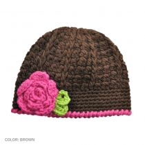 Toddlers' Flower Knit Beanie Hat in