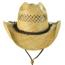 Bon Jovi Raffia Straw Vent Western Hat in