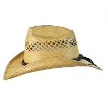 Bon Jovi Raffia Straw Vent Western Hat alternate view 3