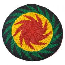 Rasta Crocheted Cotton Beret in