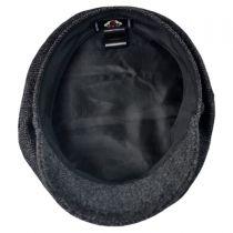 Herringbone Wool Blend Fiddler's Cap