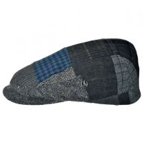 Patchwork Donegal Tweed Wool Ivy Cap in