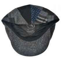 Patchwork Donegal Tweed Wool Ivy Cap