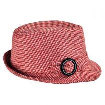 Houndstooth Fedora Hat - Child