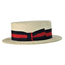 Italian Straw Skimmer Hat in