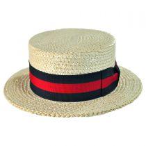 Italian Straw Skimmer Hat in