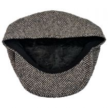 Wool Herringbone Newsboy Cap