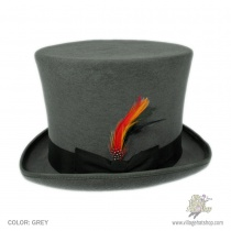 B2B Jaxon Victorian Top Hat (Grey) Alternate View