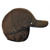 Suede Denim Baseball Cap with Earflaps