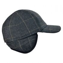 Wool Cashmere Baseball Cap with Earflaps
