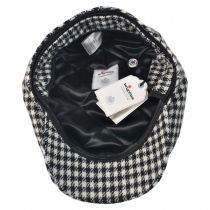 Lambswool Houndstooth Check Ivy Cap
