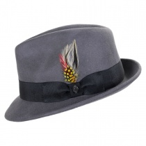 Blues Crushable Wool Felt Trilby Fedora Hat alternate view 21