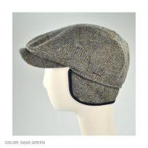 Herringbone Check Harris Tweed Wool Ivy Cap