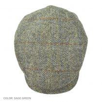 Herringbone Check Harris Tweed Wool Ivy Cap in