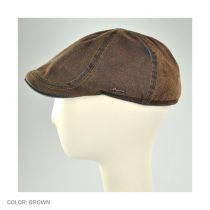 Suede Denim Duckbill Ivy Cap with Earflaps