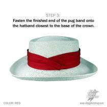 3 Pleat Twill Pug Hatband