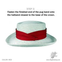 3-Pleat Pug Cotton Twill Hat Band