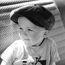 Toddler Lil Brood Herringbone Newsboy Cap in