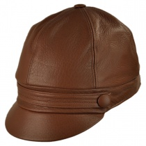 Schoolboy Nappa Leather Cap