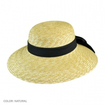 Milan Straw Boater Sun Hat alternate view 2