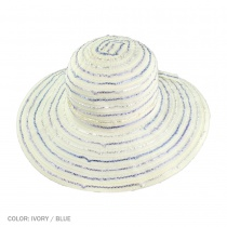 Ribbon Swinger Sun Hat with Buttons