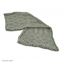 B2B sur la tete Chunky Knit Infinity Scarf (Light Gray) Alternate View