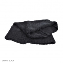 B2B sur la tete Rib Knit Cowl Scarf (Black) Alternate View