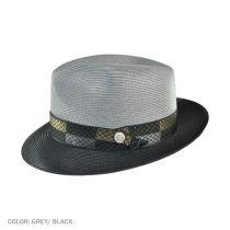 Andover Florentine Milan Straw Fedora Hat in