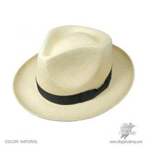 Retro Panama Straw Fedora Hat alternate view 2