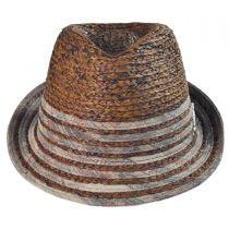 Pueblo Raffia Straw Fedora Hat