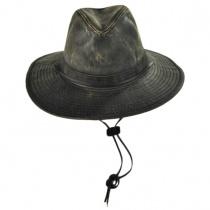 Weathered Cotton Aussie Hat in